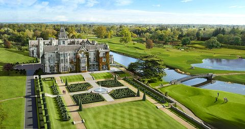 Adare Manor Garden Aerial
