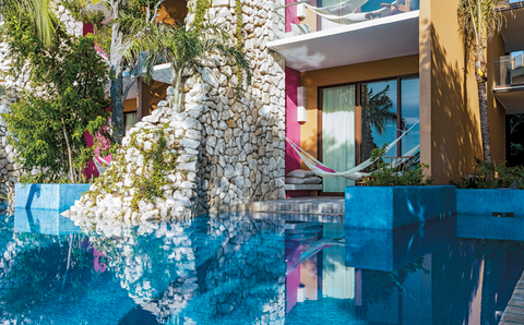Hotel Xcaret Mexicos Swim Up Ocean Front Suite In The Adults Only Casa Fuego Building Provides Guests Direct Access To Pool From Terrace