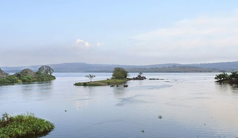 View of the Nile River in Africa