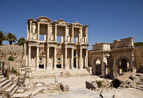 Photograph of the Library of Celsus at Ephesus