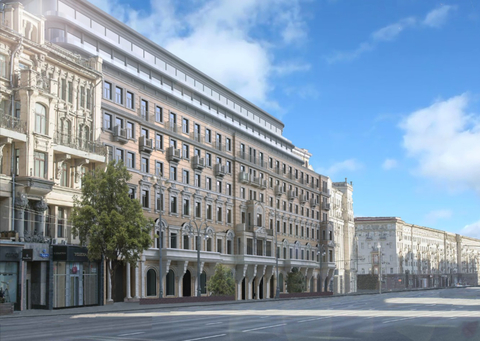A rendering of the proposed Corinthia hotel in Moscow