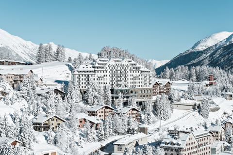 Exterior view of the hotel saturated with snow