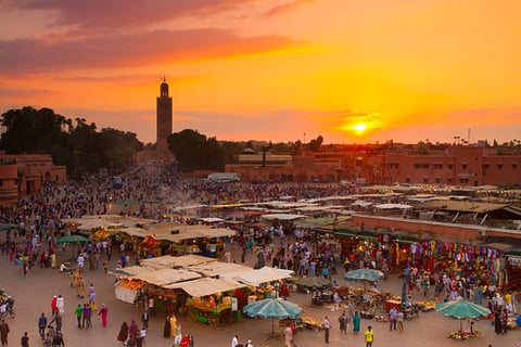 Marrakech Morocco food market