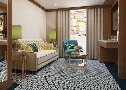 S.S. Sao Gabriel Grand Suite Living Room