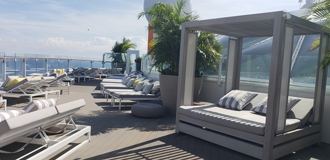 Celebrity Edge The Retreat for suite guests Photo by Susan J Young Editorial Use Only