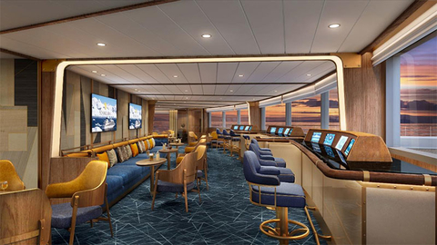 Seabourn Venture Bow Lounge