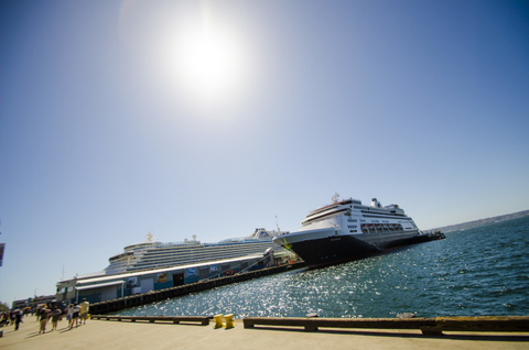 Image of Cruise Ships Docked in Port of San Diego Due to Coronavirus
