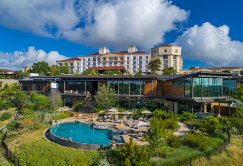 La Cantera Resort & Spa exterior with the pool visible