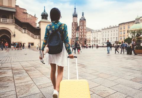 Solo traveler (woman) in Krakow, Poland