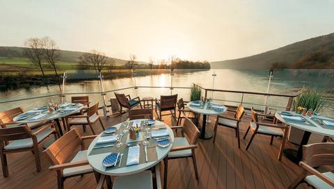 Viking  CC Longships Aquavit River Sunset