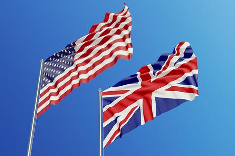 United States and United Kingdom flag