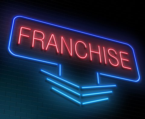 Neon franchise sign