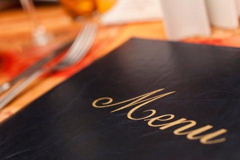 Closed black menu