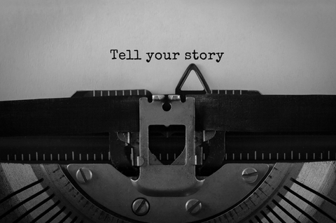 Tell your story on typewriter