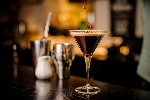 Espresso Martini on a bar