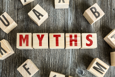 """Myths"" spelled in block letters"