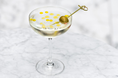 Torali Martini olive oil cocktail by Leo Enriquez at the Ritz-Carlton