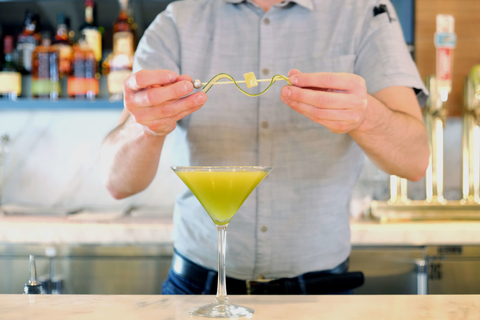 The Geisha matcha cocktail at Laurel Point and Wewatta Point