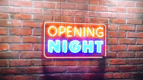 Logo of Opening Night with Chef Brian Duffy television show on Food Network