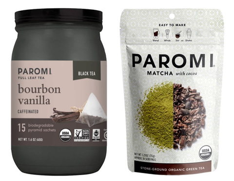 Paromi Bourbon Vanilla Full Leaf Tea and Matcha with Cocoa