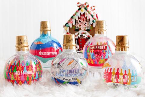Smirnoff No. 21 Ornament Bottles
