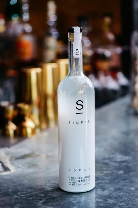 Simple Vodka bottle