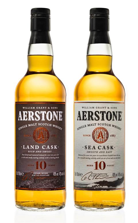 Aerstone Sea Cask & Land Cask bottles
