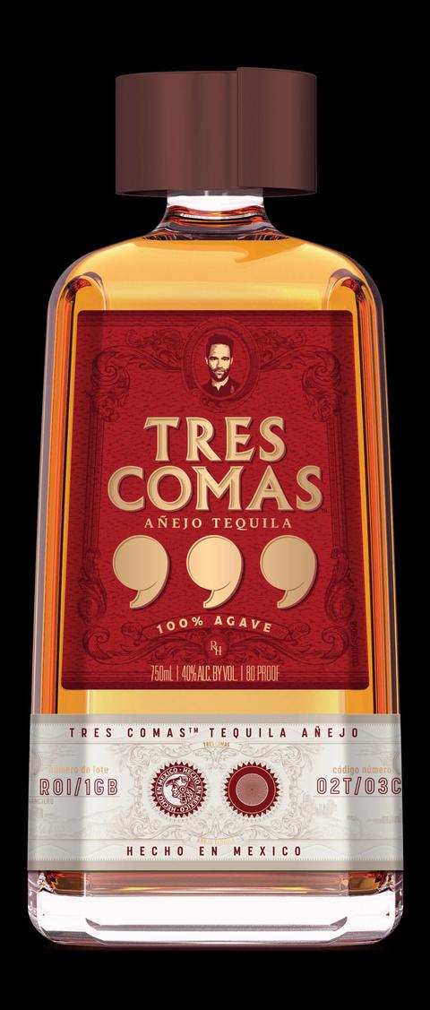 Tres Comas Añejo Tequila bottle