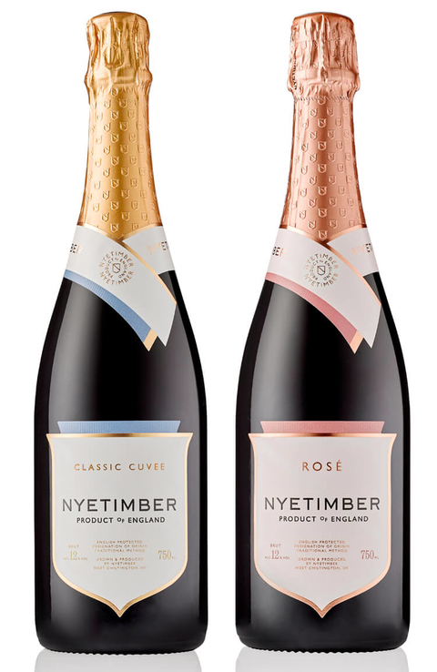 Nyetimber Classic Cuvee and Nyetimber Rosé sparkling wines