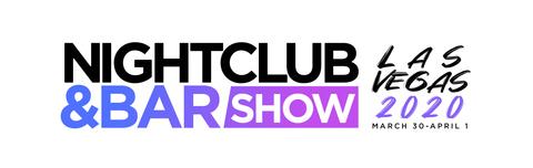 2020 Nightclub & Bar Show Las Vegas logo with dates stacked