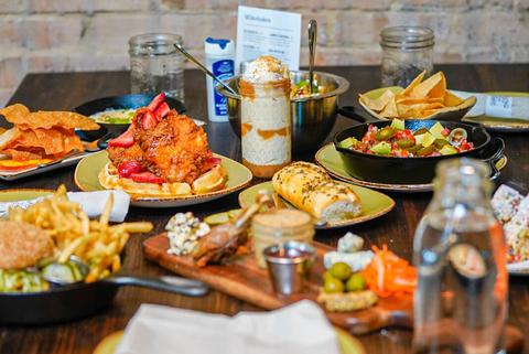 Food at Punch Bowl Social in Dallas, TX