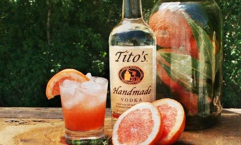 Tito's Vodka and grapefruits