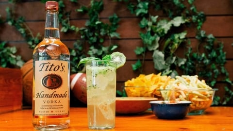 Tito's Kiwi Kickoff cocktail (Photo: Courtesy of Tito's Handmade Vodka)