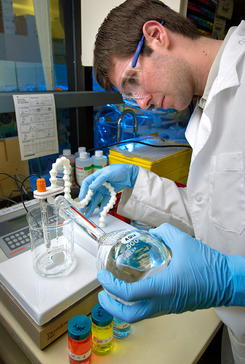 A pH meter is a sensitive lab device to be handled with care to ensure accurate results.
