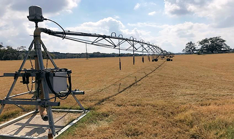 An agricultural irrigation system.