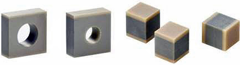 Fig. 4: Modern multilayer piezo actuators can be designed in a variety of compact geometric forms providing extreme reliability. (Image: PI Ceramic)