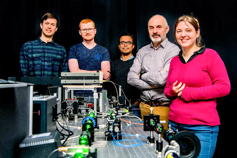 Milos Nesladek and his team at IMO-IMOMEC, including Emilie Bourgeois (who is specialized in optical transitions in semiconducting materials), Michal Gulka (who works on spin readout protocols) and Tanmoy Chakraborty (previous group member). Several PhD a