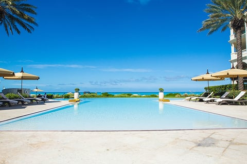 Hotel pool at The Somerset on Grace Bay