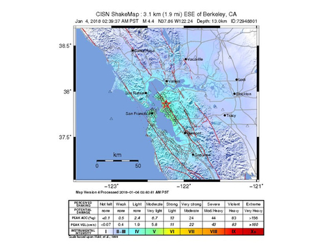 No Initial Injuries Damage Reported In San Francisco Earthquake