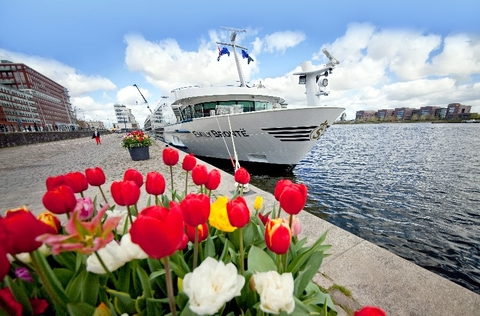 Emily Bronte Exterior river vessel Europe Courtesy of Riviera Travel Editorial use Only