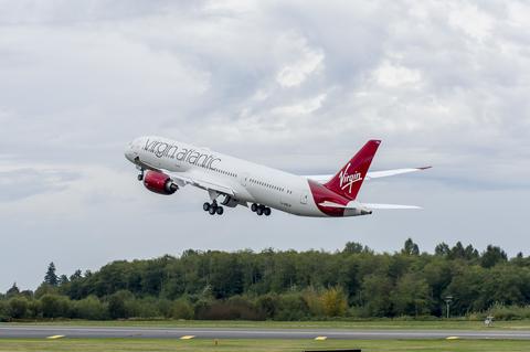 Virgin Atlantic Plane Taking Off
