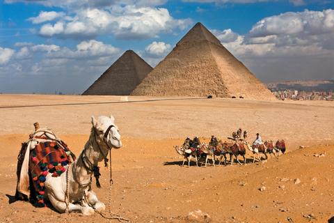 Giza Pyramids and Cairo Egypt