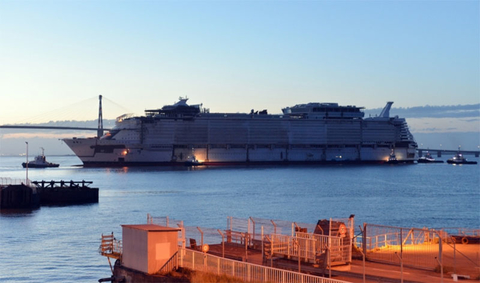 Symphony of the Seas Float Out