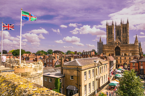 Lincoln, England with the Lincoln Cathedral in the background