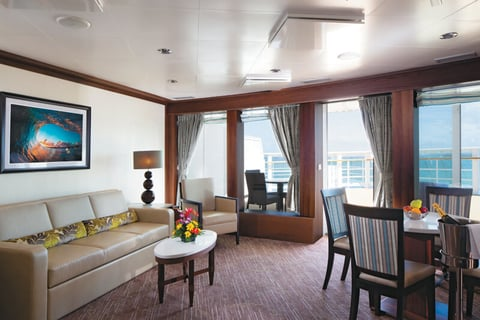 Norwegian Cruise Line's Pride of America emerged last year from a lengthy drydock. Pictured is the newly revamped Owner's Suite.