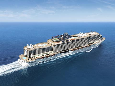 Exterior rendering of MSC Seaview