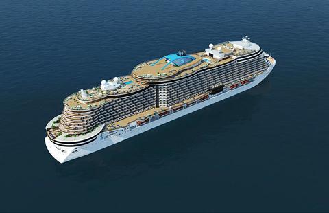 Rendering of Norwegian Cruise Line's new Project Leonardo class of cruise ships