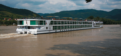 """Scenic Pearl is one of the five """"Space-Ships"""" plying Europe's rivers."""