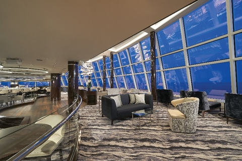 Observation Lounge Norwegian Bliss Photo courtesy of Norwegian Cruise Line
