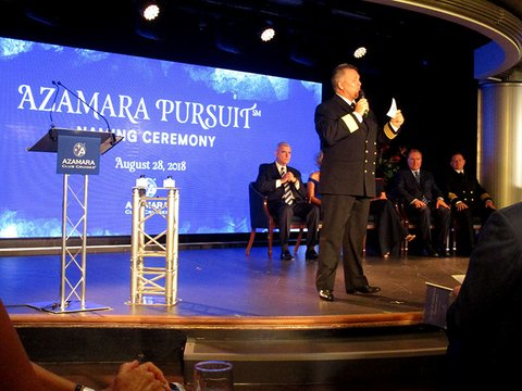Azamara Pursuit Naming Ceremony